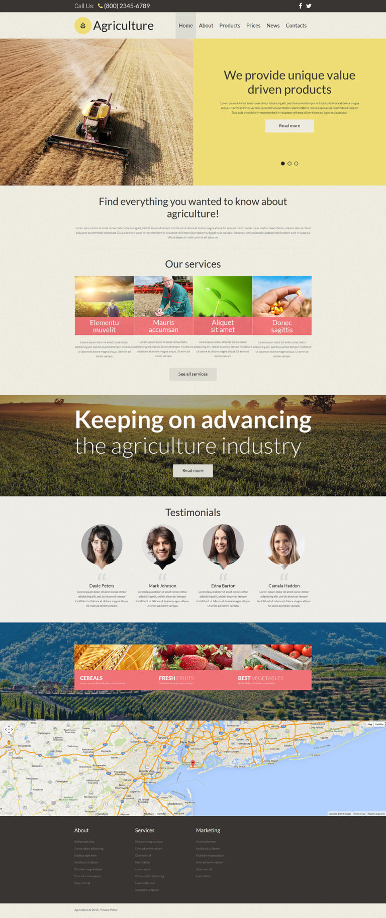 Agriculture Responsive Joomla Template New Screenshots BIG