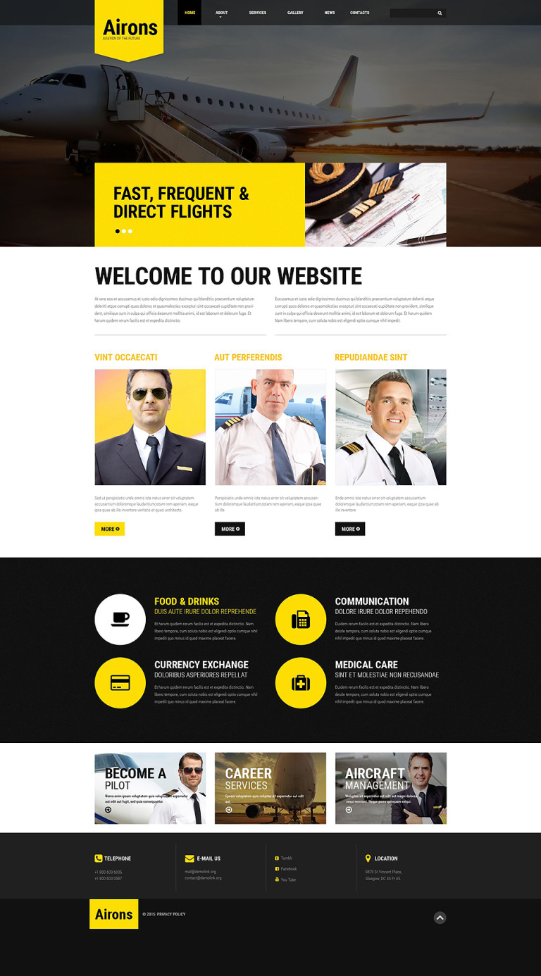 Airons Website Template New Screenshots BIG