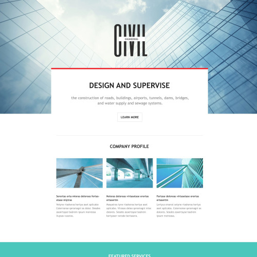 Civil - Responsive Landing Page Template