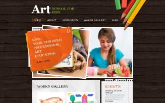Art School PSD Template