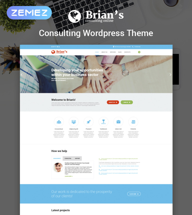 Brian S Consulting Multipurpose Clic Elementor WordPress Theme New Screenshots
