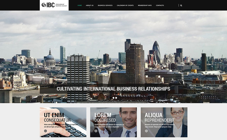 Business Council Website Template