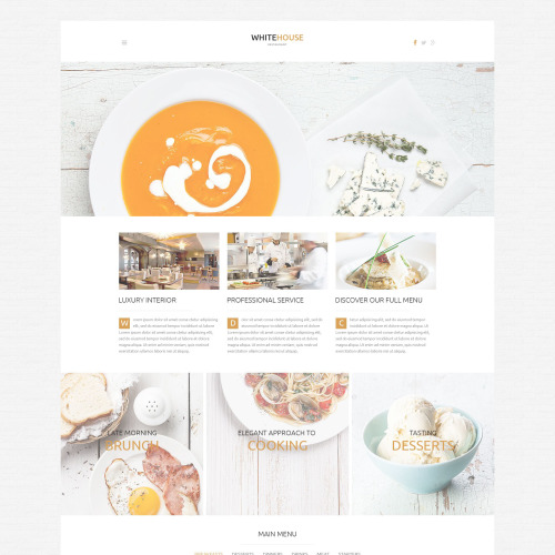 White House - WordPress Template based on Bootstrap
