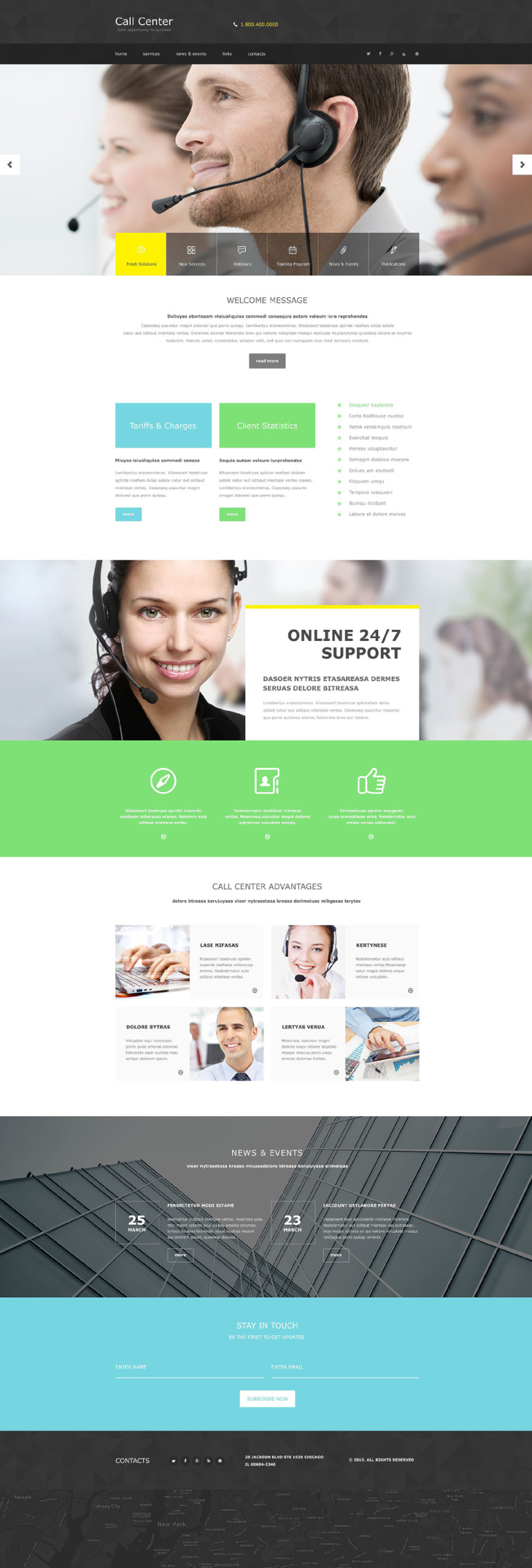 Call Center Muse Template New Screenshots BIG