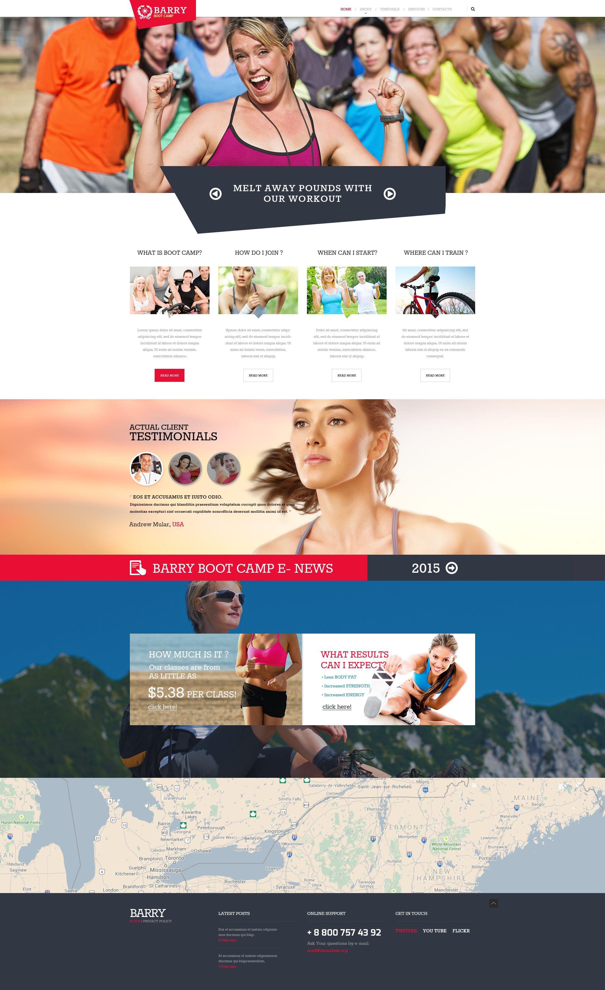 Camping Responsive Website Template - screenshot