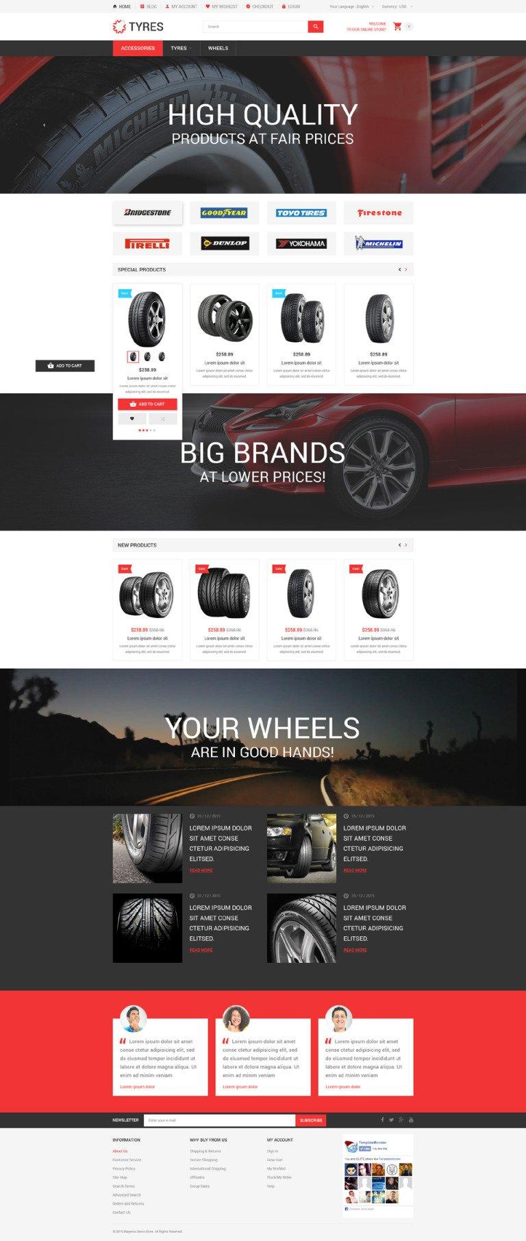Car Wheels Online Store Magento Theme New Screenshots BIG