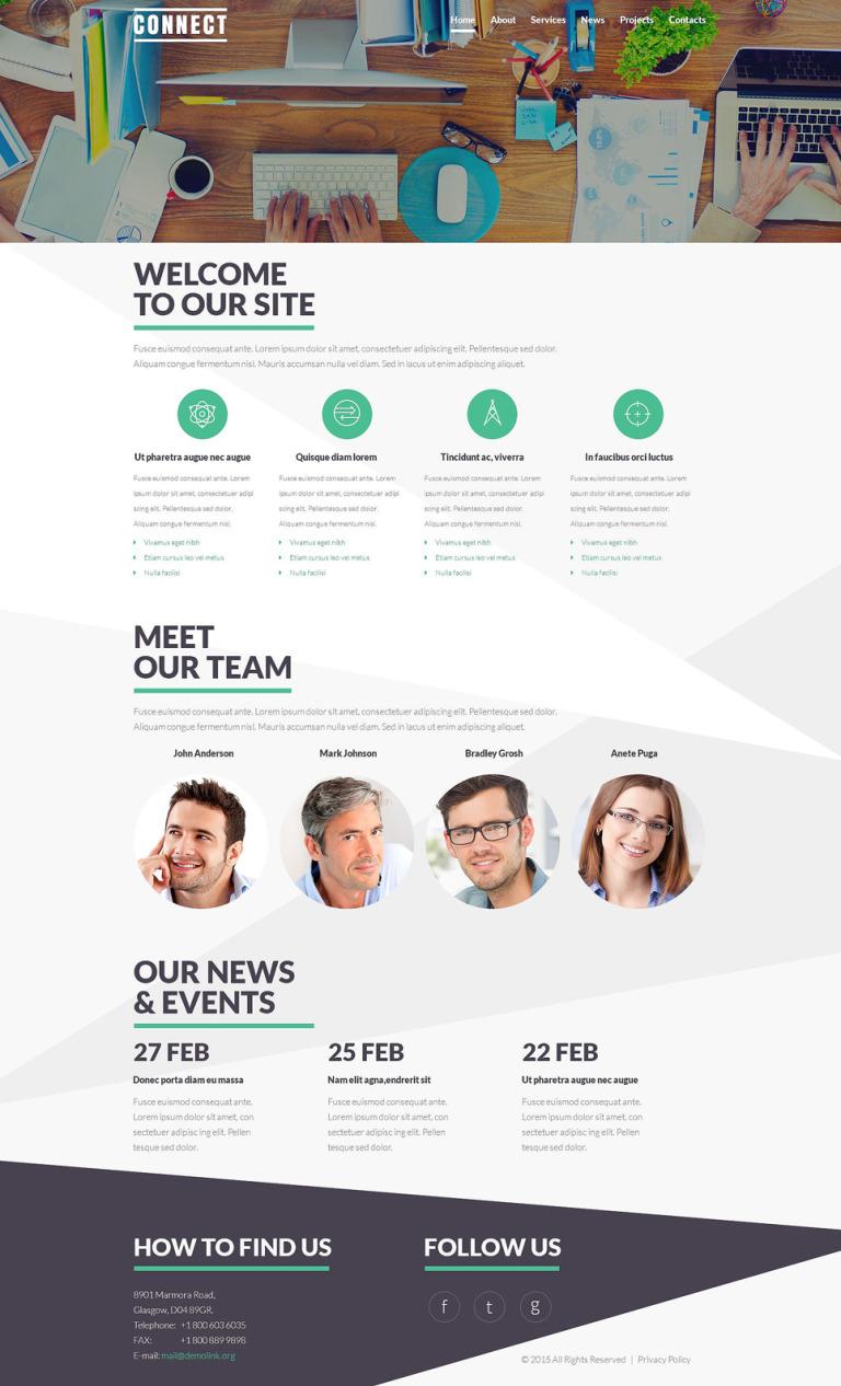 Communications Service Theme Joomla Template New Screenshots BIG