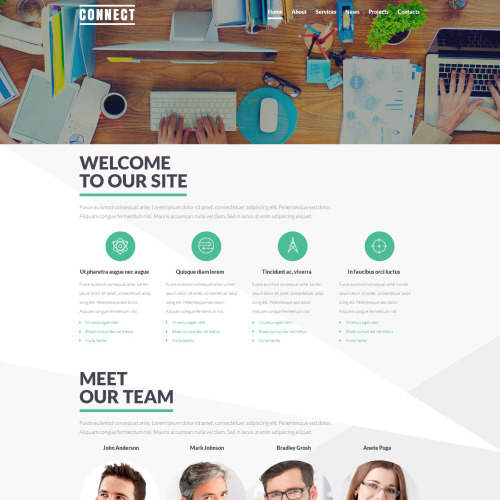 Connect - Joomla! Template based on Bootstrap