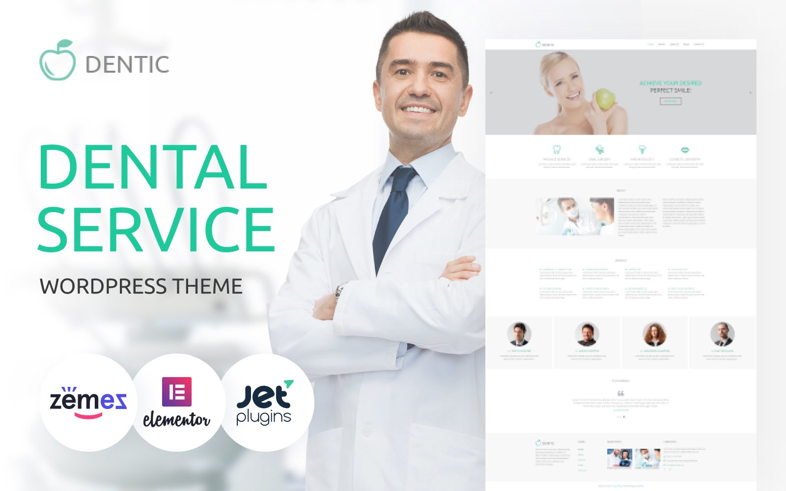 Dentic - Dentistry Multipurpose Classic Elementor WordPress Theme