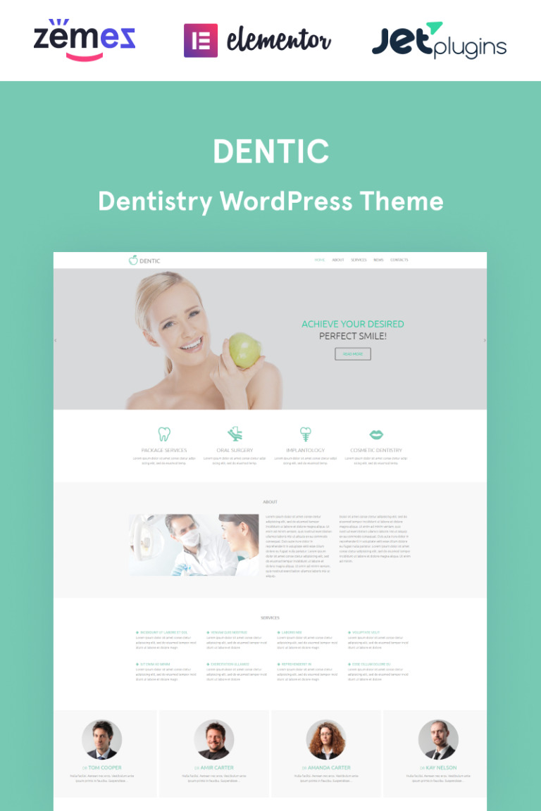Dentic WordPress Theme New Screenshots BIG