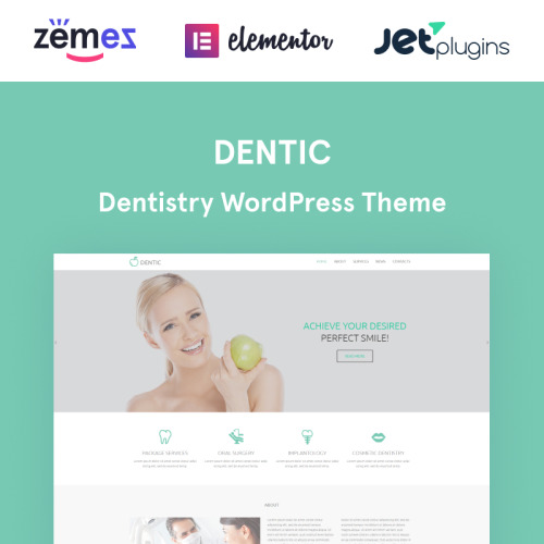 Dentic - WordPress Template based on Bootstrap