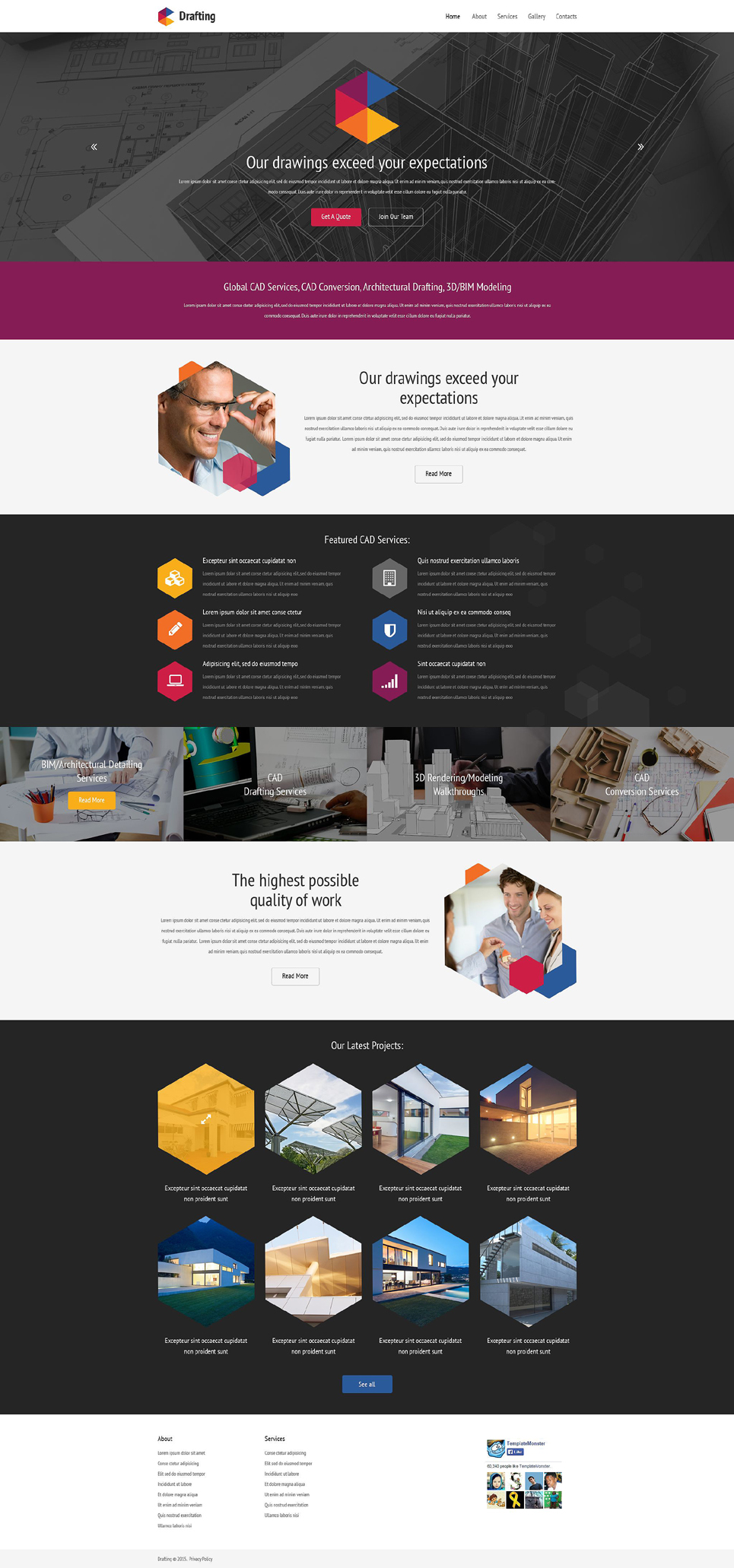 Drafting Services Web Template