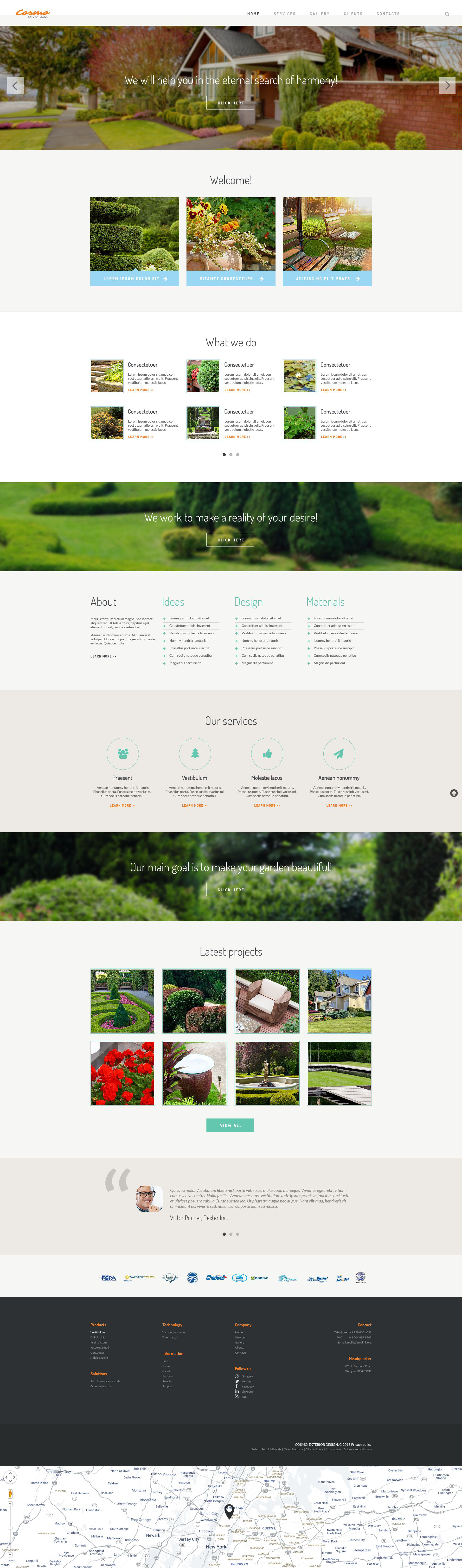 Exterior design responsive website template 54566 for Exterior design templates