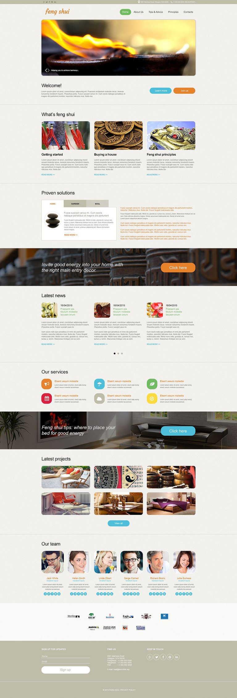 Feng Shui Muse Template New Screenshots BIG