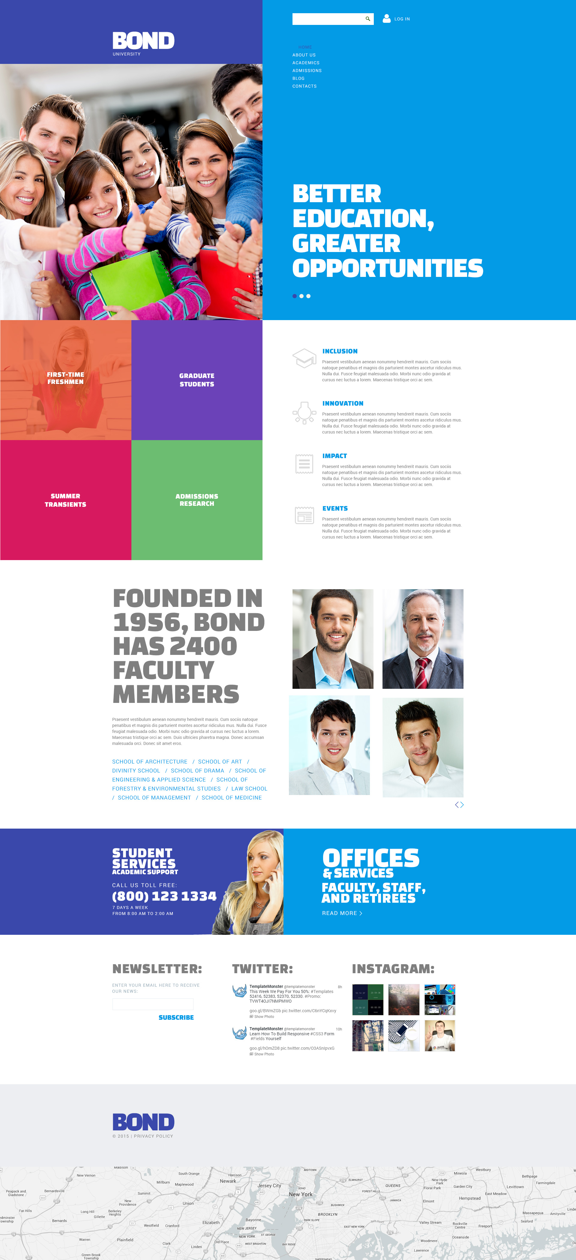 Free joomla template for university website pronofoot35fo Images
