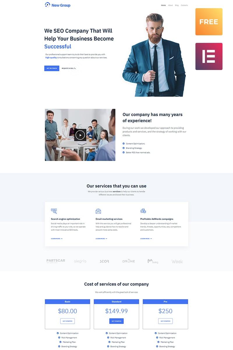 Free WordPress Theme for Consulting Firm WordPress Theme - screenshot