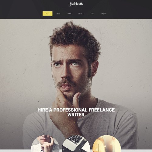 Jack Peratta - WordPress Template based on Bootstrap