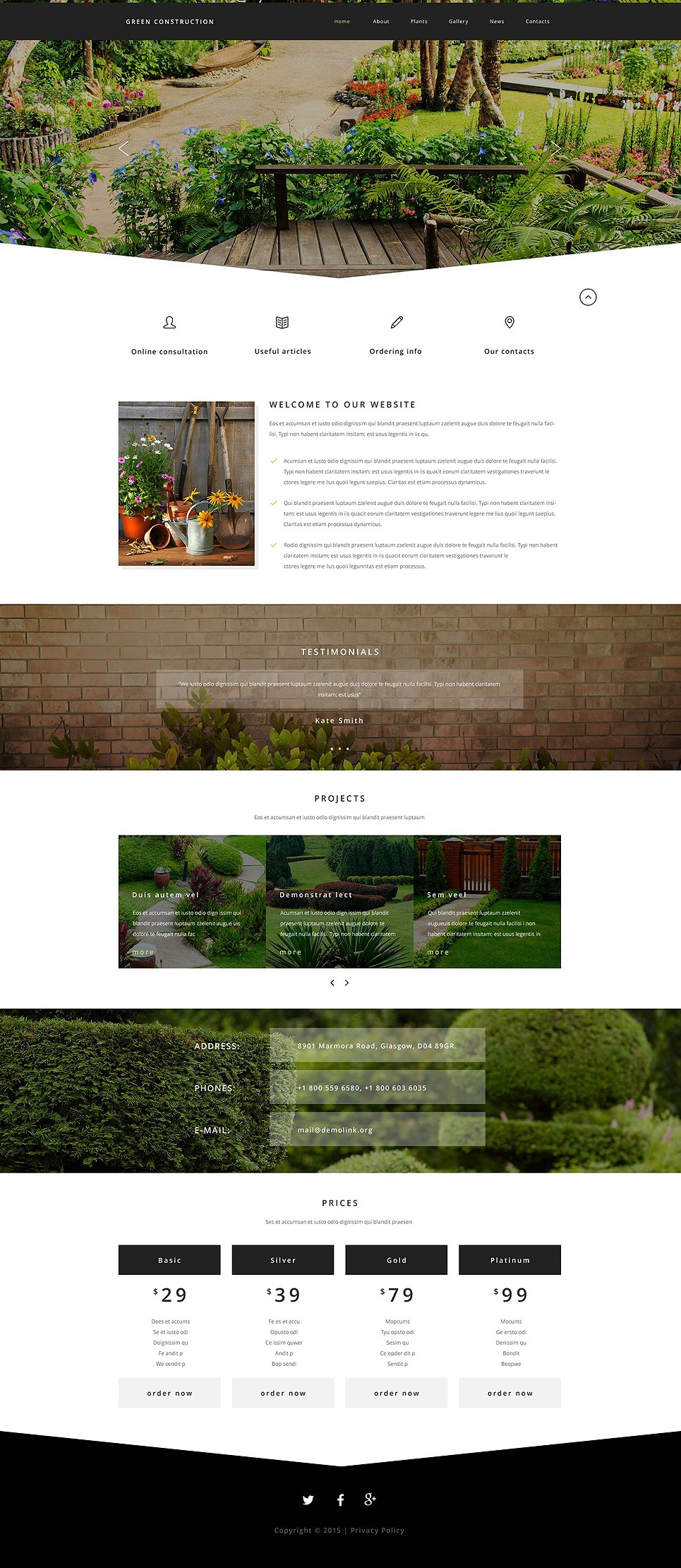 Landscaping Website Templates. free agriculture website templates ...