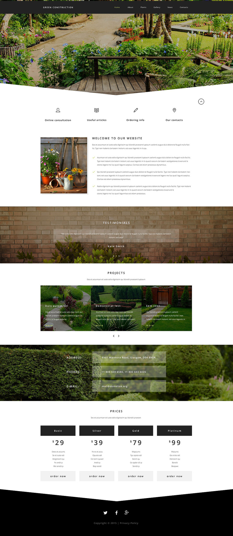 Green Construction Website Template New Screenshots BIG