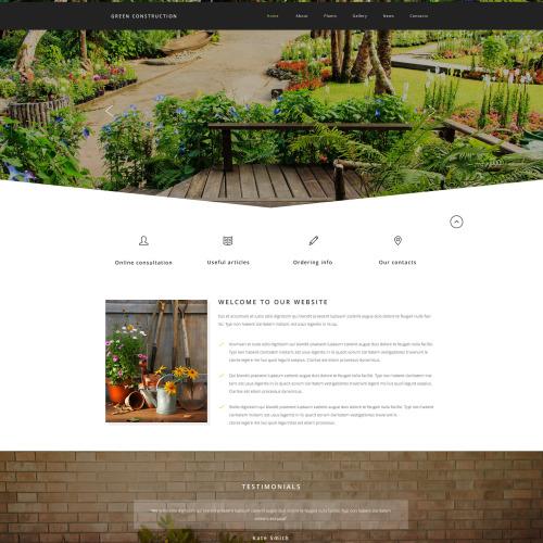 Green Construction - Responsive Website Template