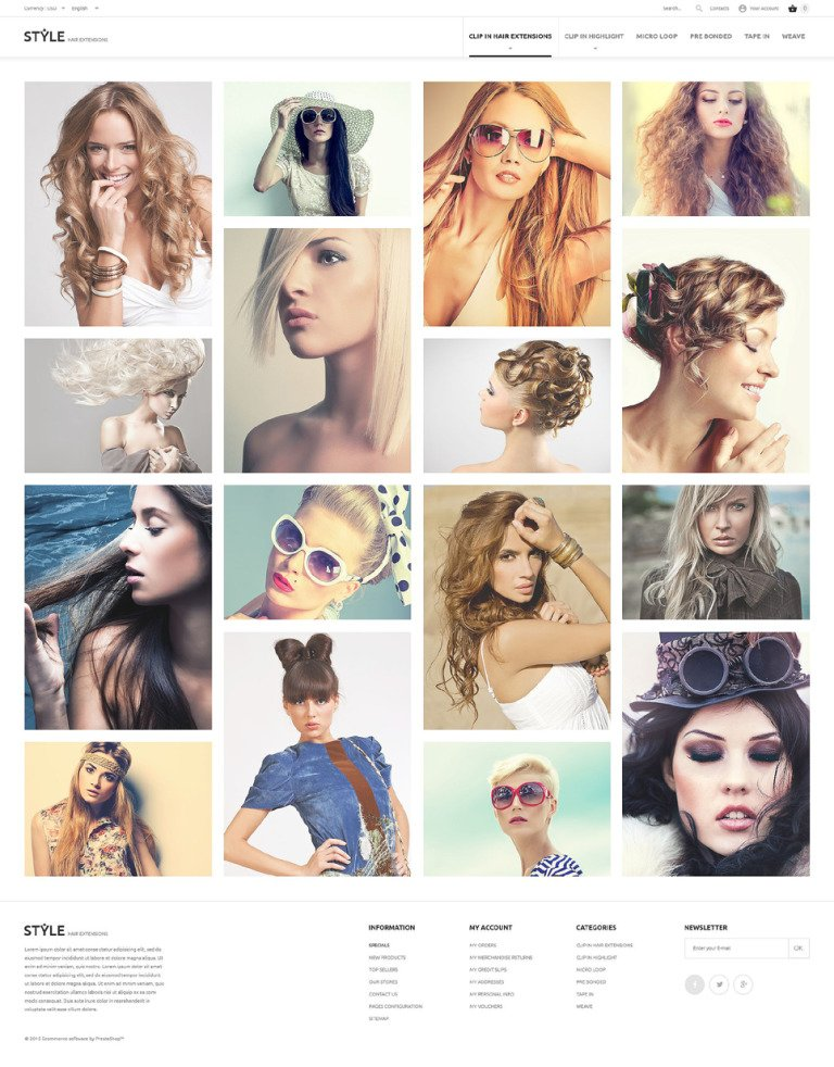 HairStyle PrestaShop Theme New Screenshots BIG