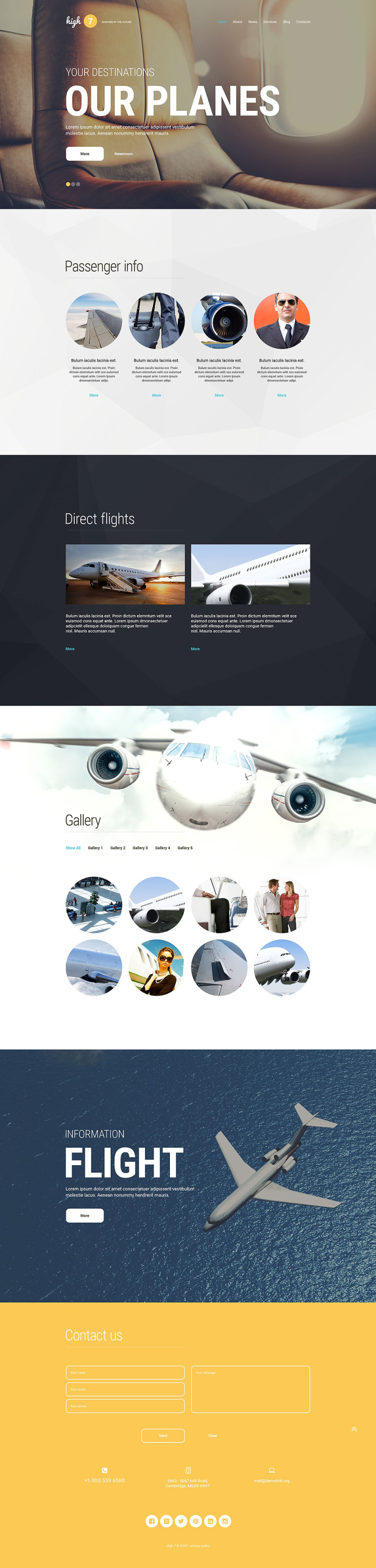 High7 WordPress Theme New Screenshots BIG