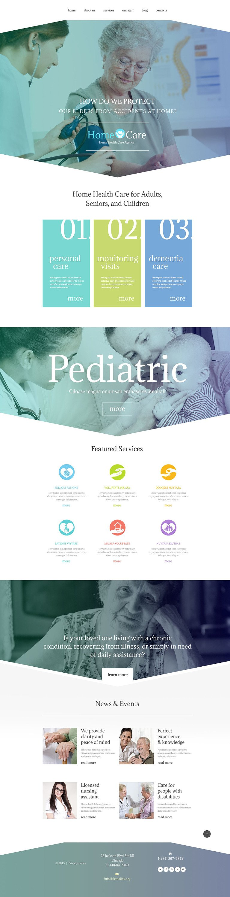 Home Care WordPress Theme New Screenshots BIG