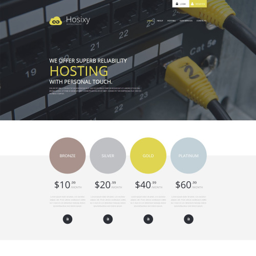 Hosixty - WordPress Template based on Bootstrap