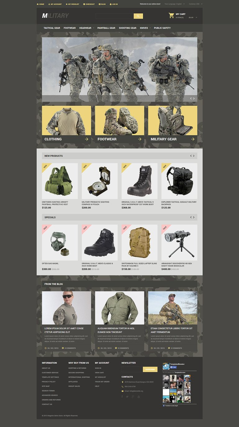 Military Store Magento Theme New Screenshots BIG