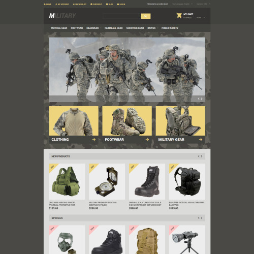 Military  - Magento Template based on Bootstrap