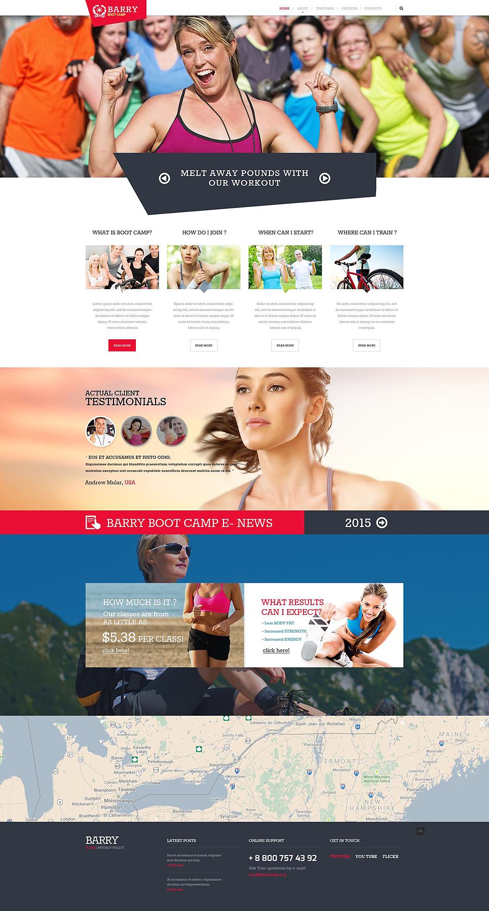 Modello siti web per un sito di camping for Siti web di costruzione domestica