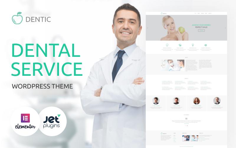"""Modello WordPress Responsive #54581 """"Servizi Dentali"""""""