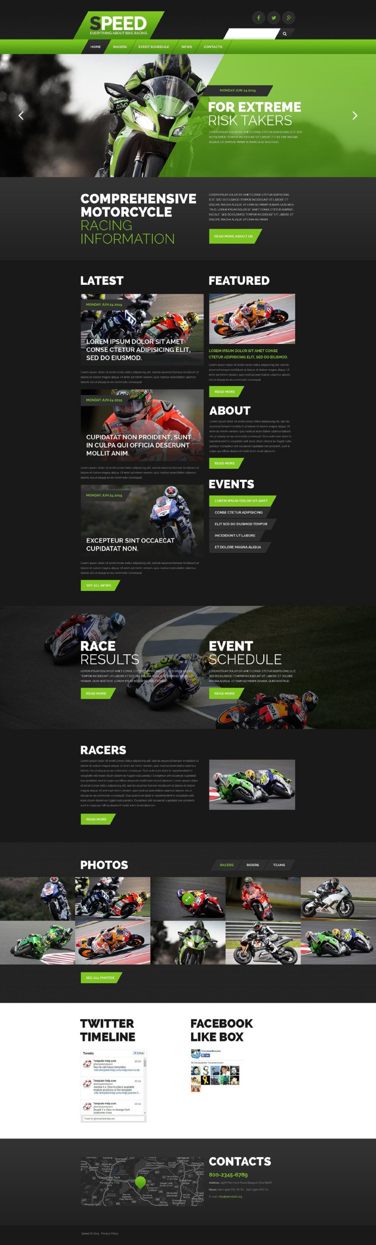 Motor Racing Website Template New Screenshots BIG