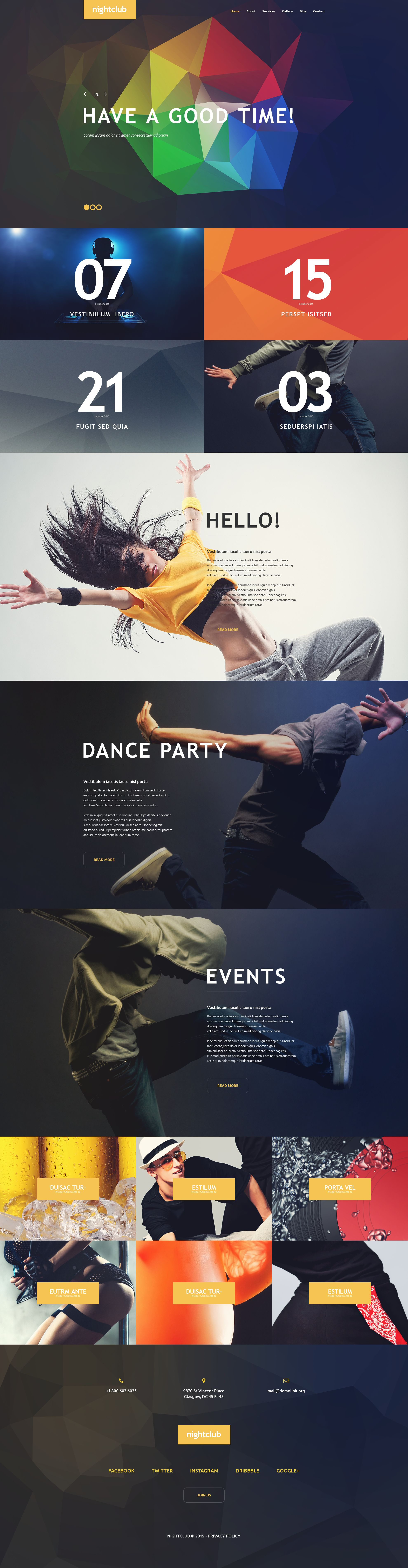 Night Club WordPress Theme - screenshot