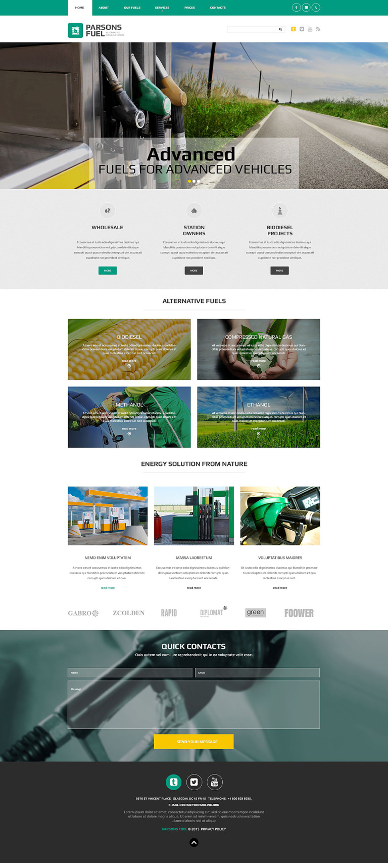 Parsons Fuel Website Template New Screenshots BIG