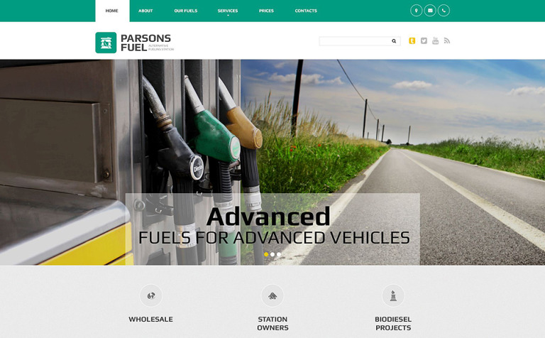 Parsons Fuel Website Template