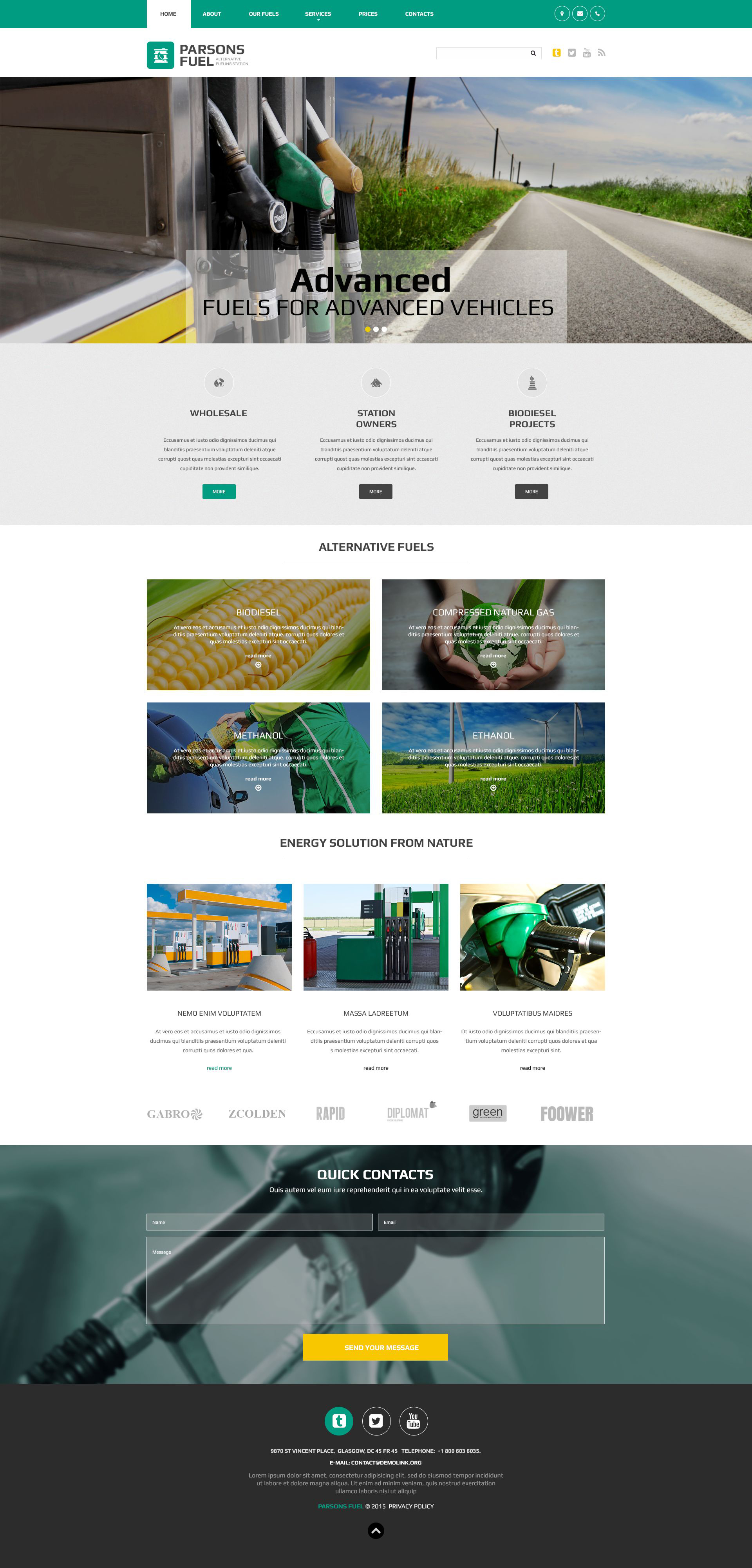 Parsons Fuel Website Template
