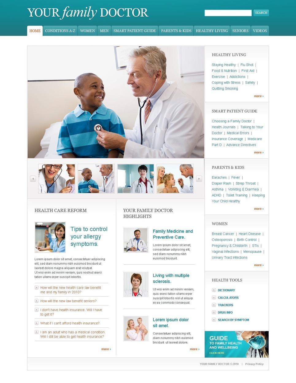 Pediatrician PSD Template New Screenshots BIG