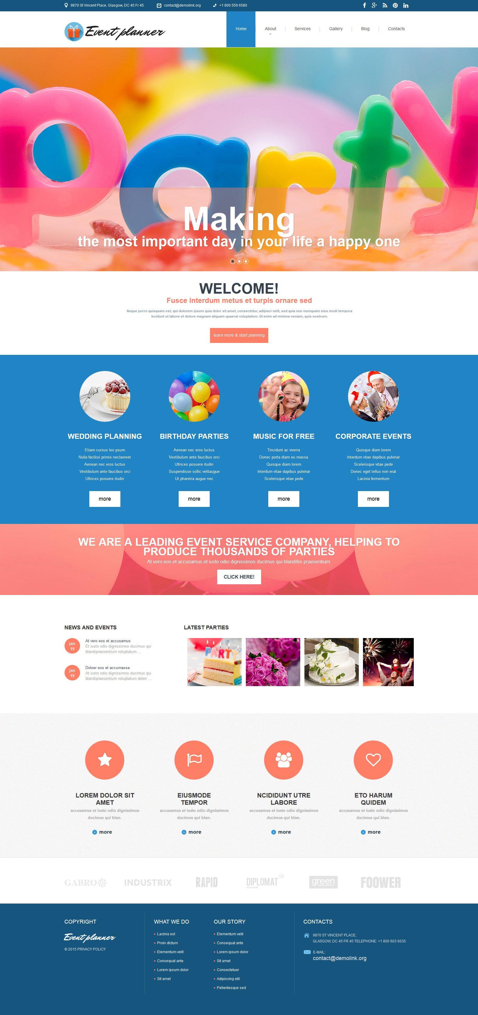 "Plantilla Joomla ""Event Planer - Event Planner Clean"" #54552"