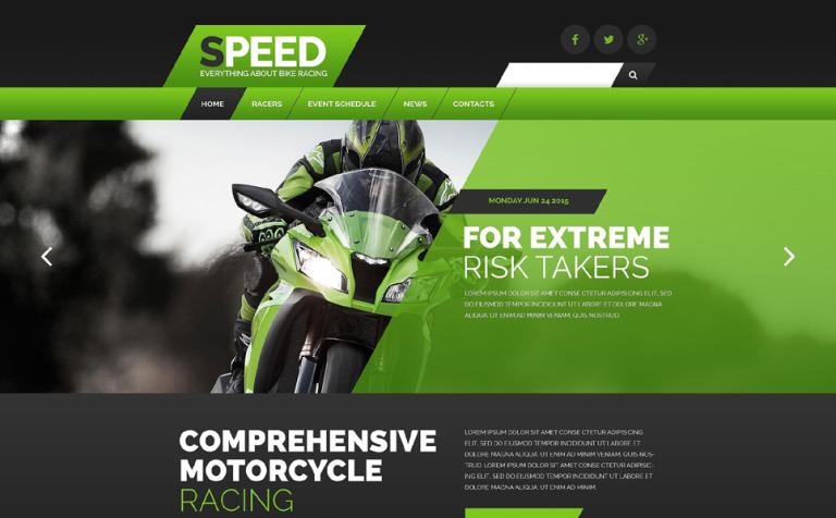 Plantilla Web #54561 para Sitio de Deportes de motor