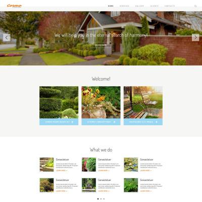Responsive Plantilla Web #54566 para Sitio de  para Sitio de Diseño de exteriores
