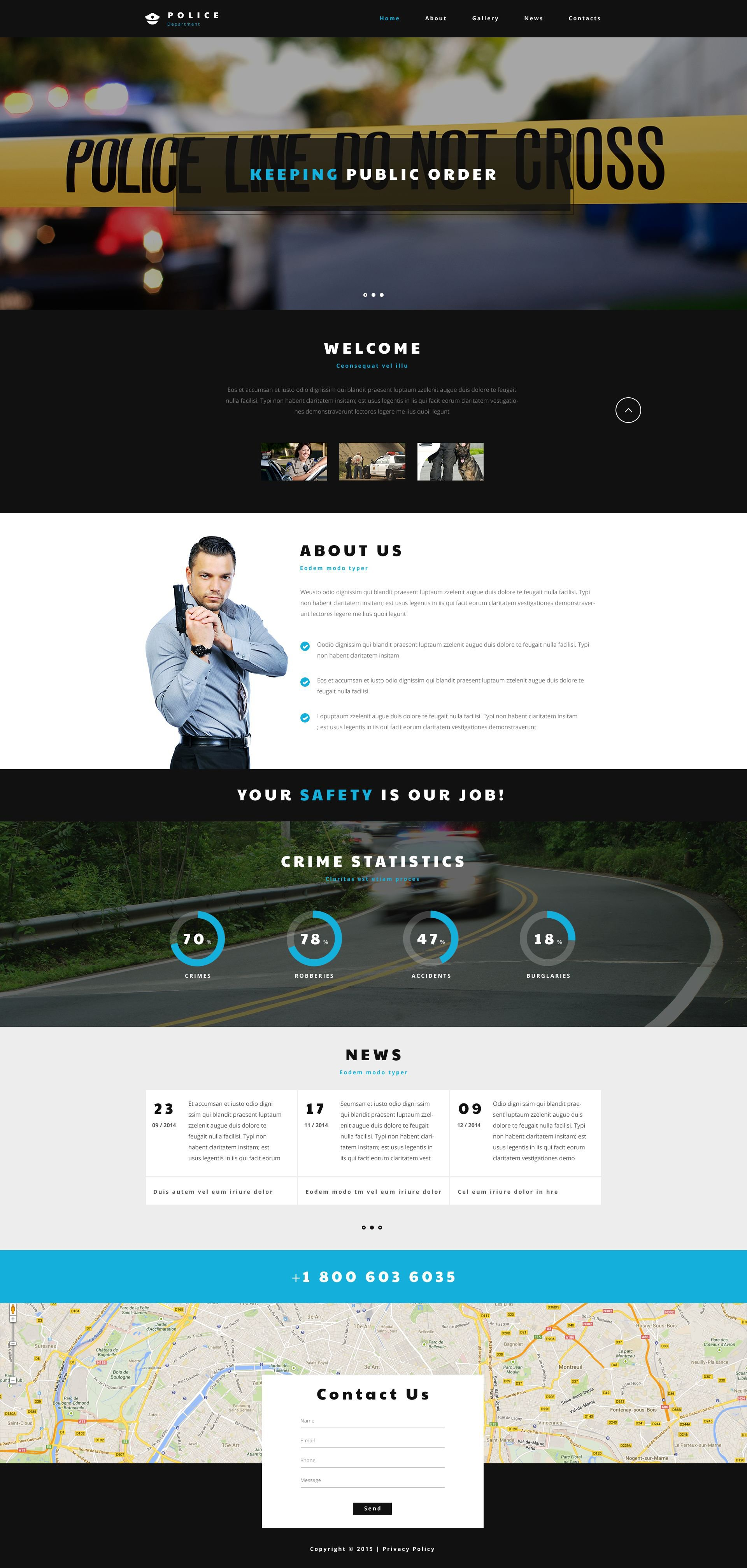 Police Entity Template Web №54568