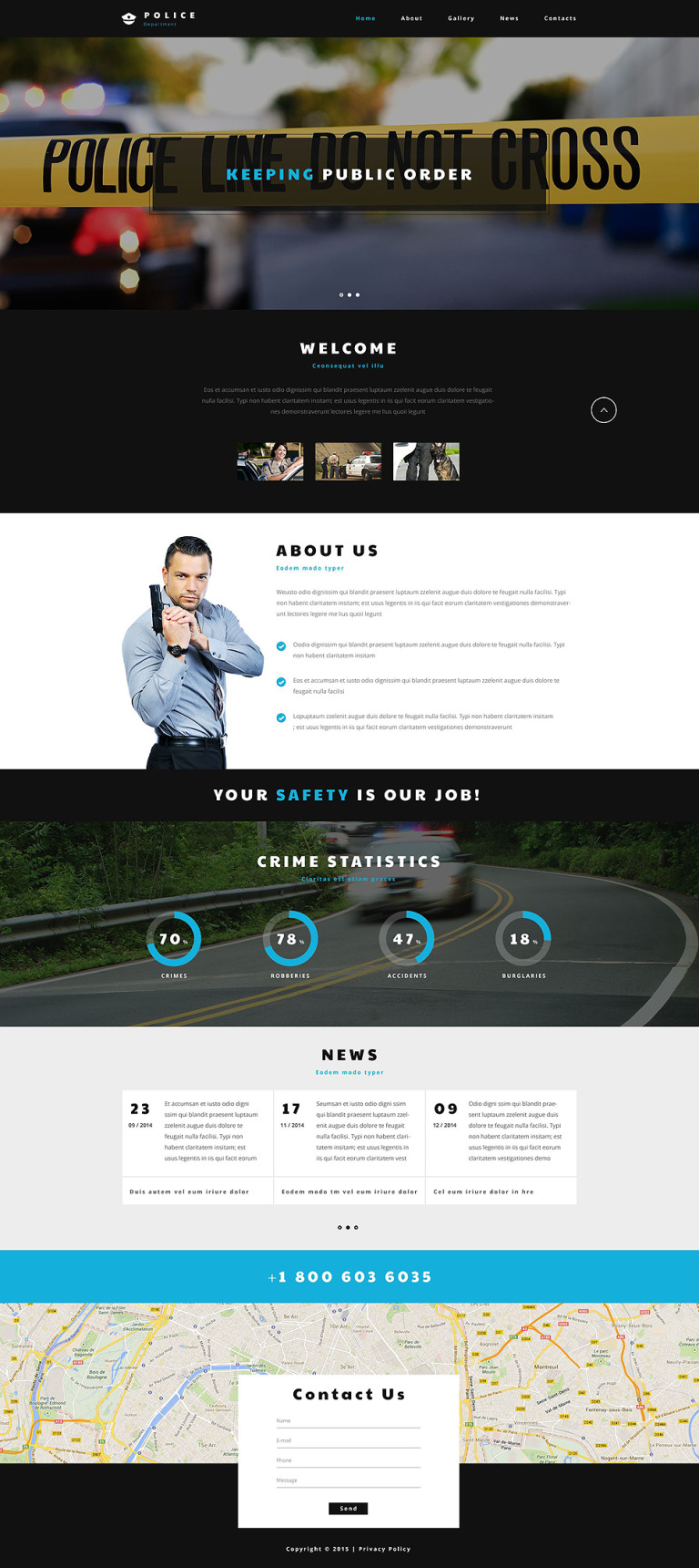 Police Entity Website Template New Screenshots BIG