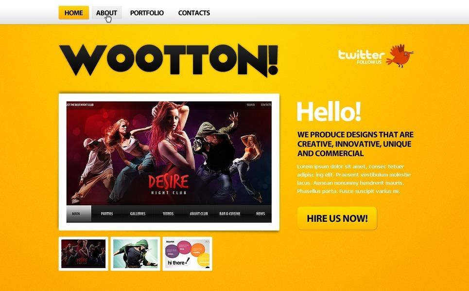 PSD šablona Webový Design New Screenshots BIG