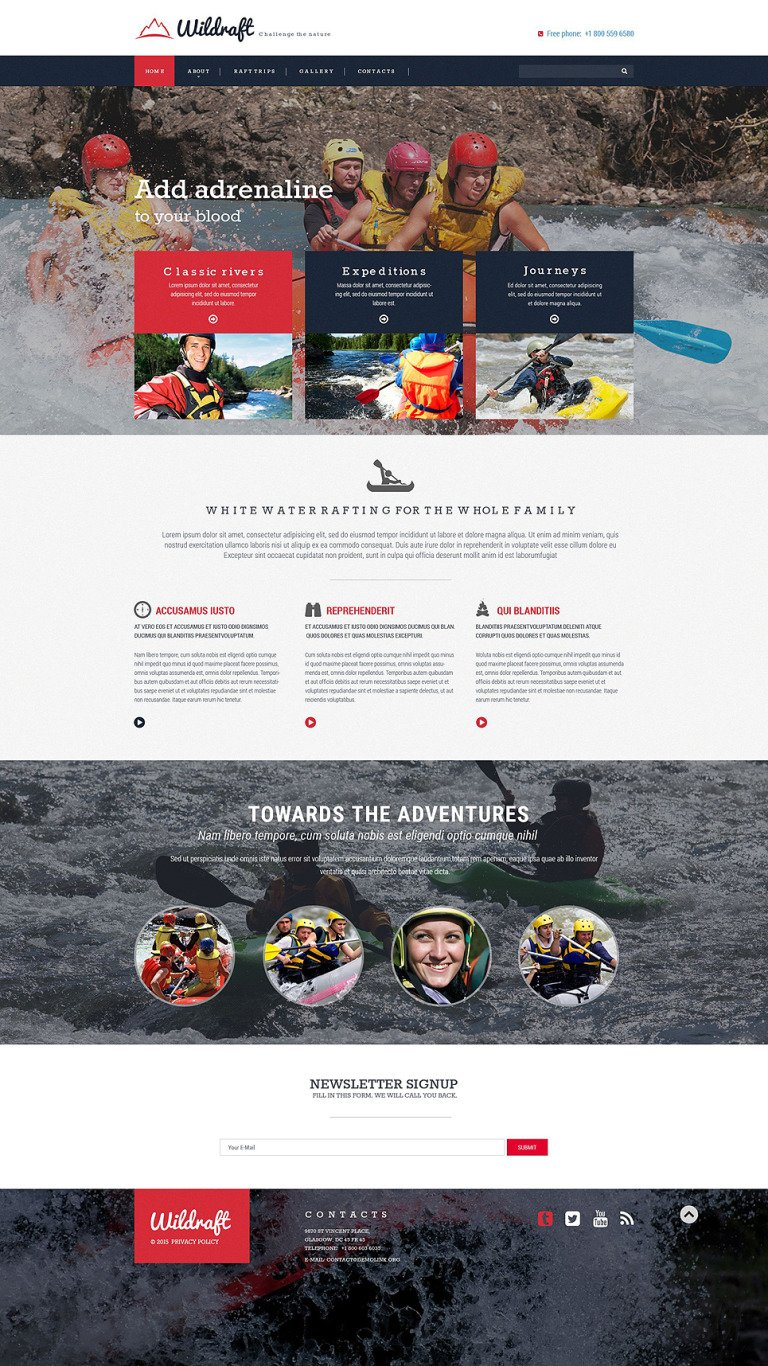 Rafting Responsive Website Template New Screenshots BIG