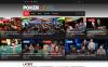Responsive Çevrimiçi Poker  Web Sitesi Şablonu New Screenshots BIG