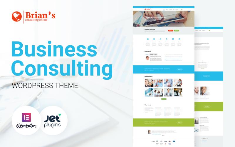 Responsivt Brian's - Consulting Multipurpose Classic Elementor WordPress-tema #54575