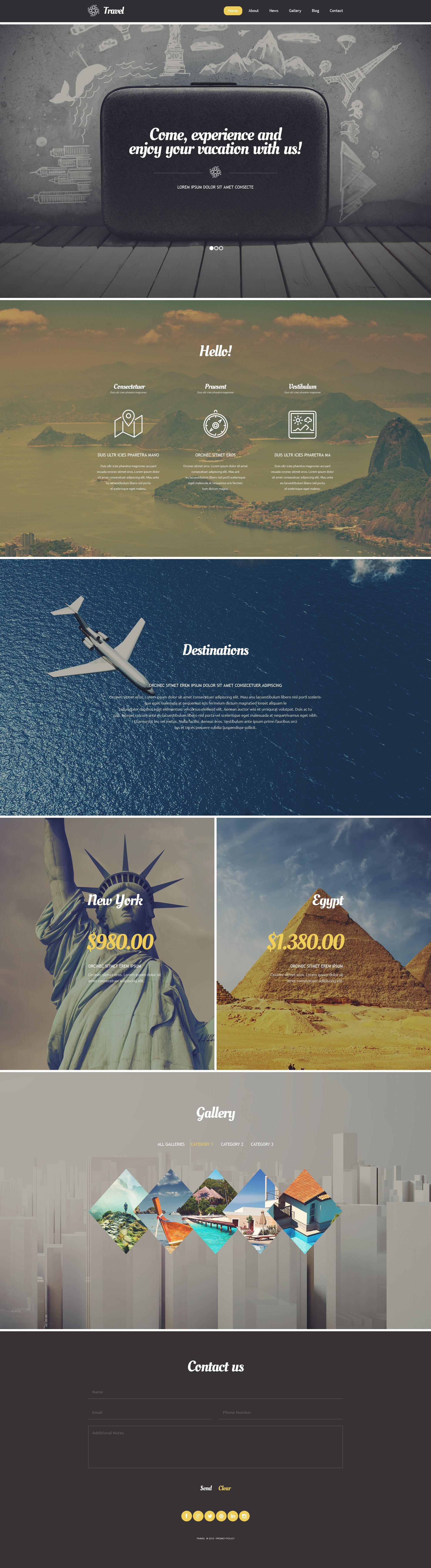 Responsivt Travel Agency WordPress-tema #54580