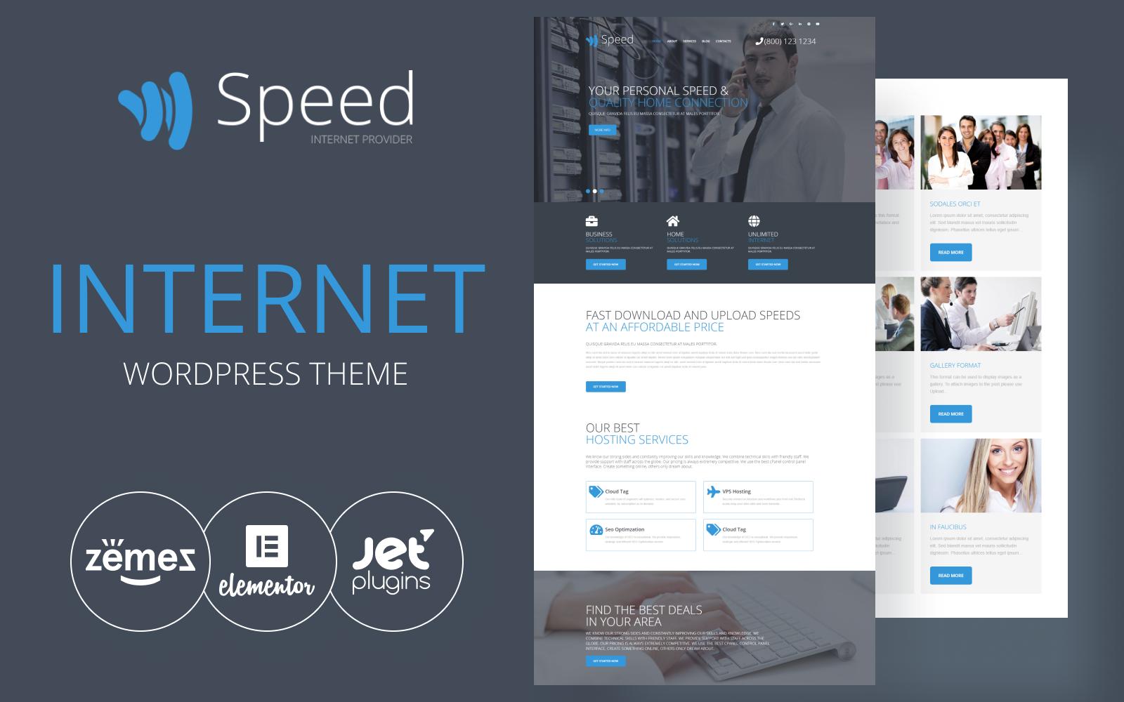 Responsywny motyw WordPress Speed - Internet Theme with Elementor Builder #54577