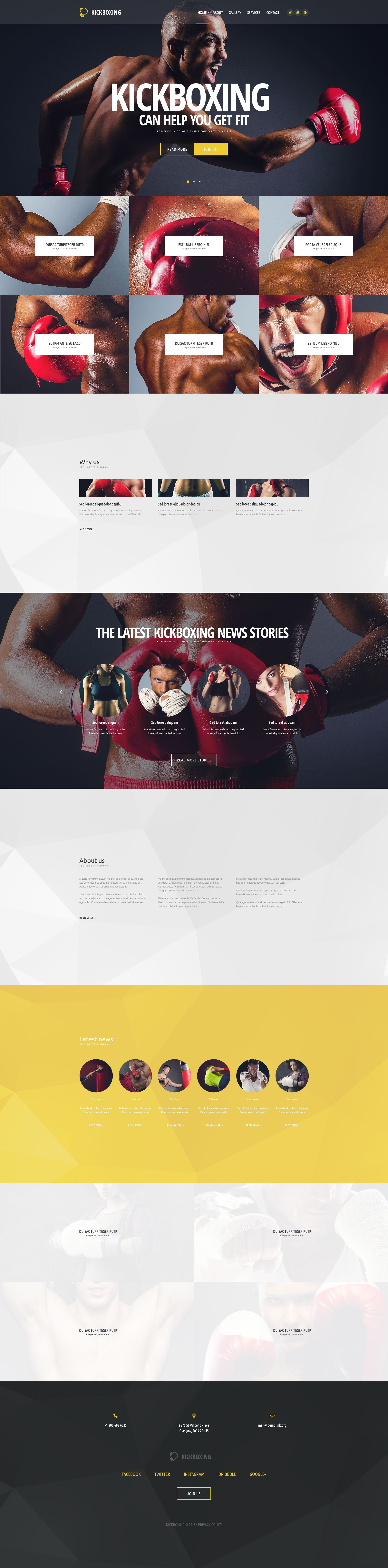Responsywny szablon strony www Kickboxing #54569